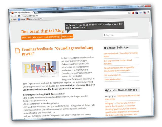 Der team digital-Blog