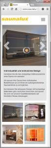 Saunalux Webseite
