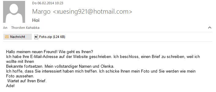 Lustige Spam-Mail