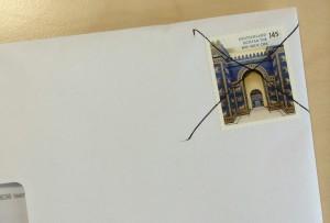 Entwertung der Briefmarke