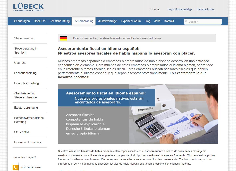 Steuerberatung in Spanisch