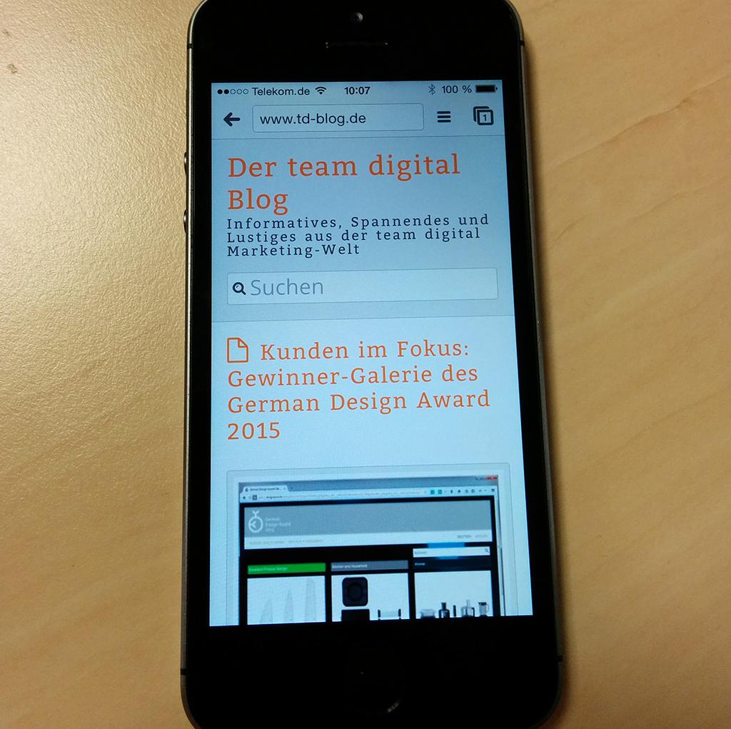 Mobile Website - responsive Design