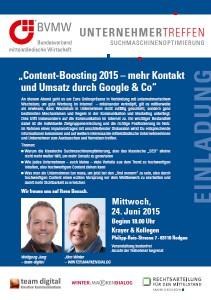 Online Marketing Content-Boosting 2015