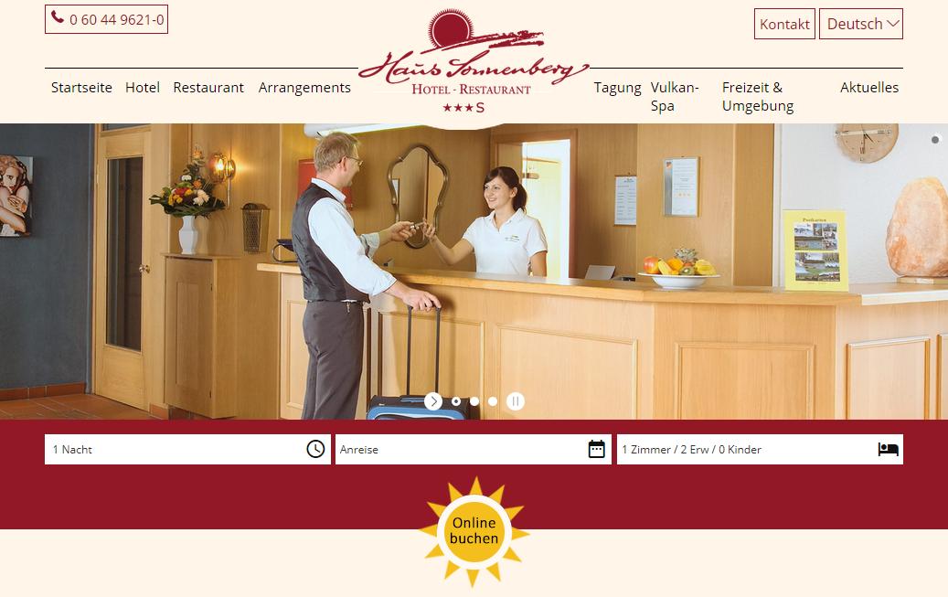 Website Projekte Das Hotel Haus Sonnenberg in Schotten