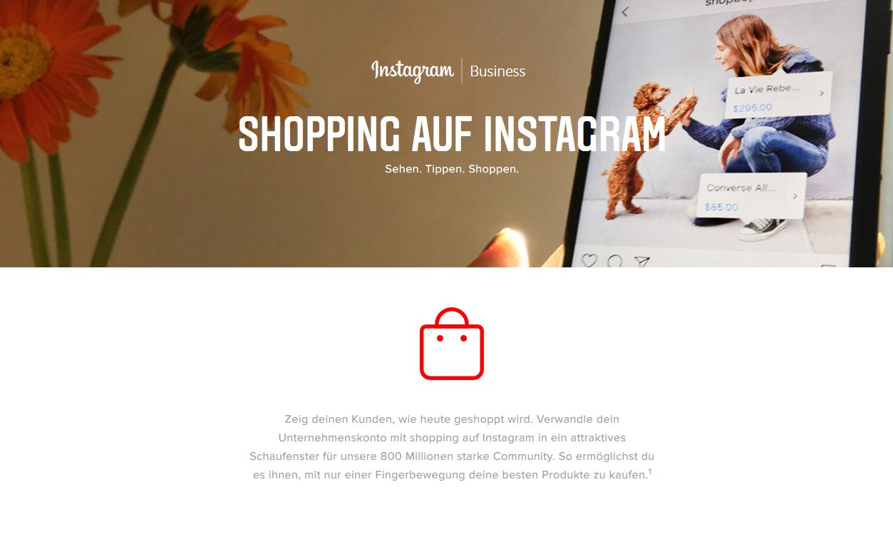 Instagram Shopping Agentur