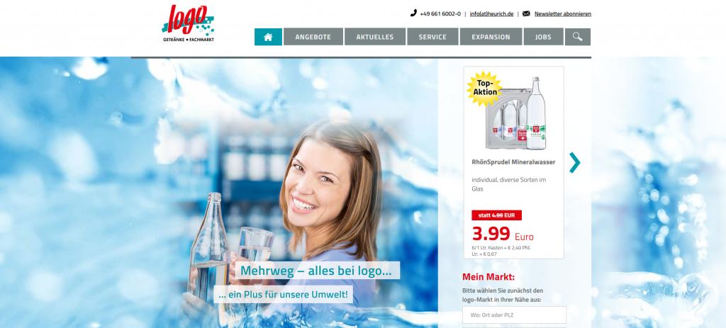 logo-Getränkemärkte mit neuer Siete