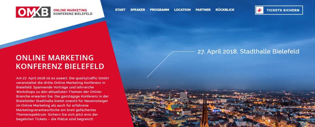 Die Online Marketing Konferenz in BIelefeld.
