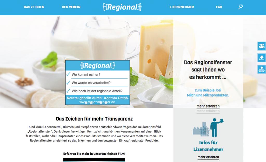 Regionalfenster, mehr als 4.000 Produkte werden so gekennzeichnet