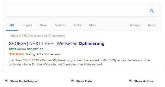 SEOlyze.de – Snippet Optimizer - Suchergebnis