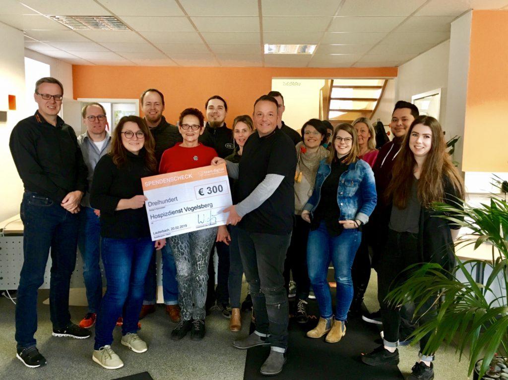 Die diesjährige Spende der team digital GmbH ging an den Hospizverein Vogelsberg