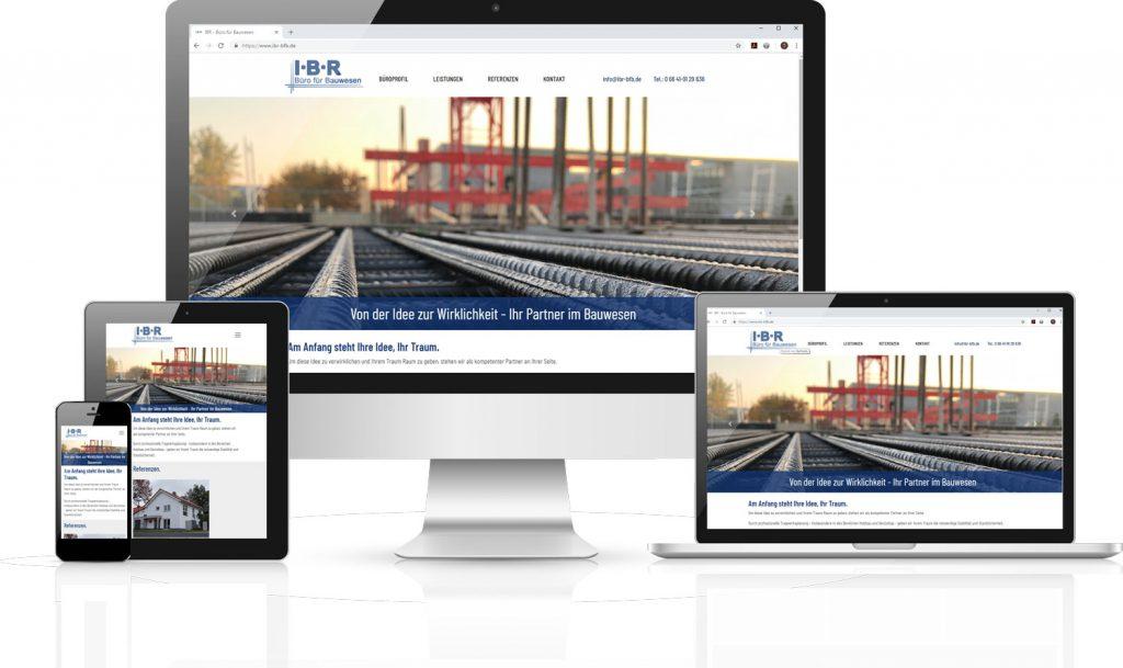 Neue Website für IBR - Büro für Bauwesen by team digital