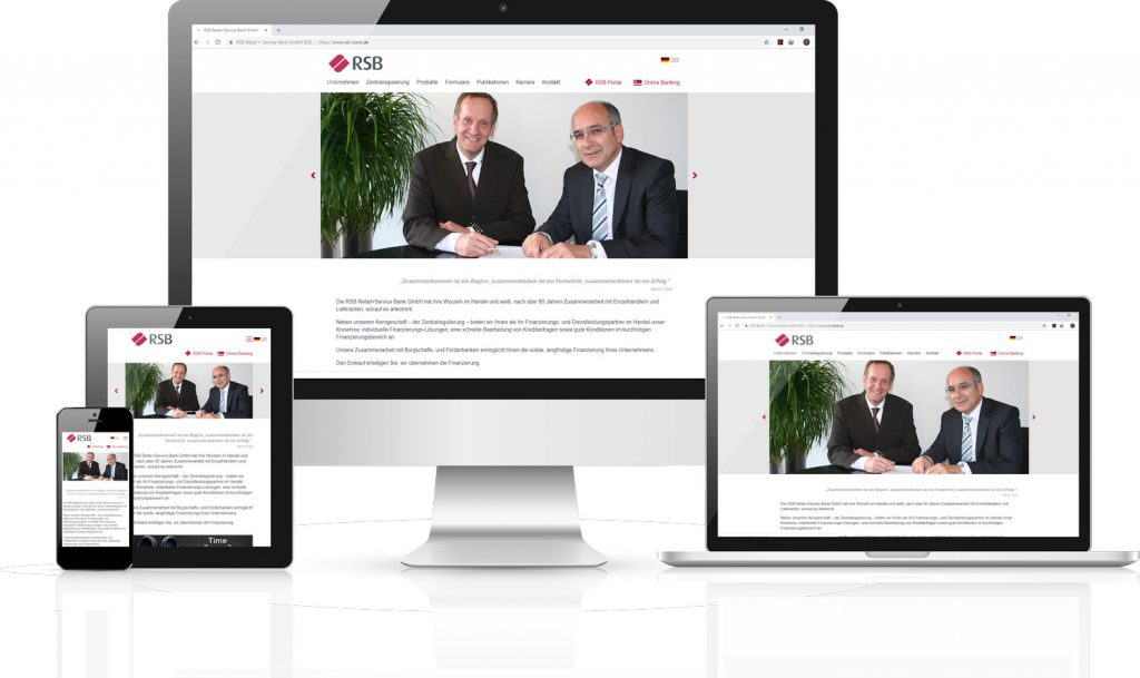 Websiterelaunch der RSB Bank durch team digital