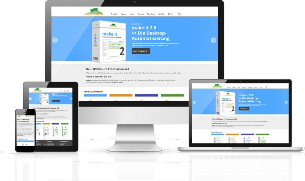 Responsive Website der Lugrain Software GmbH
