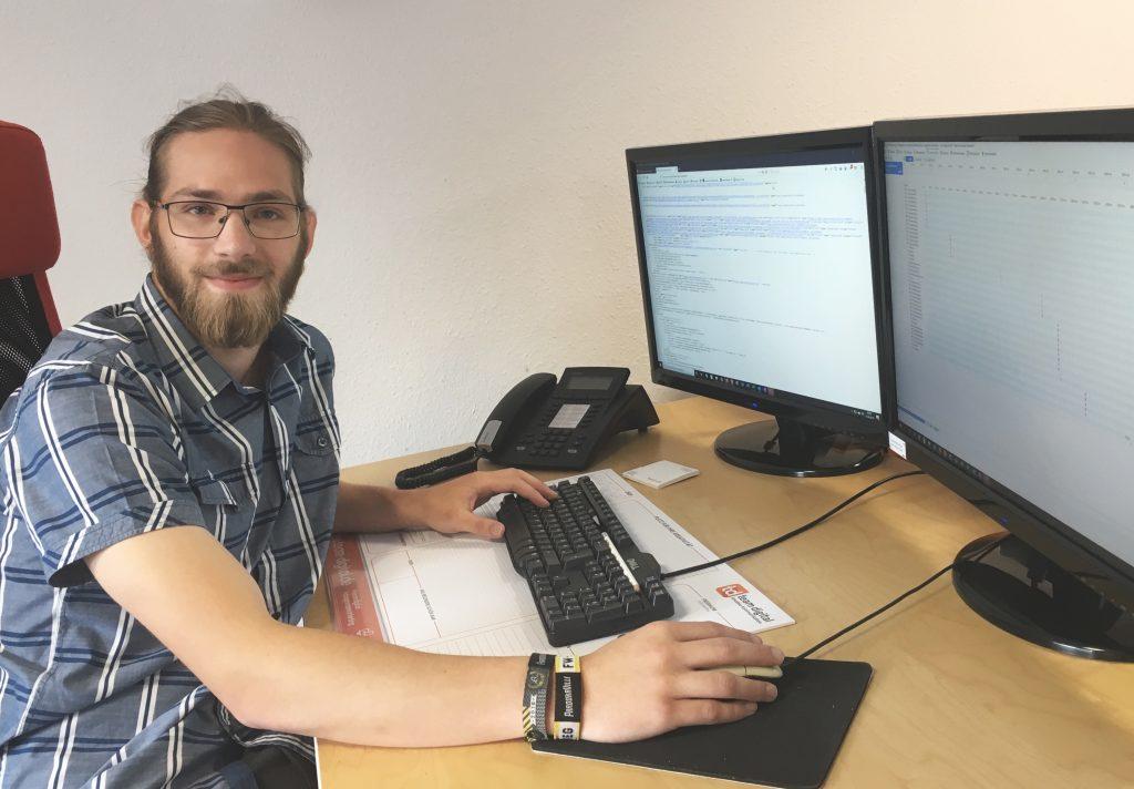 Fabian Gondolph, Auszubildender Mediengestalter, team digital