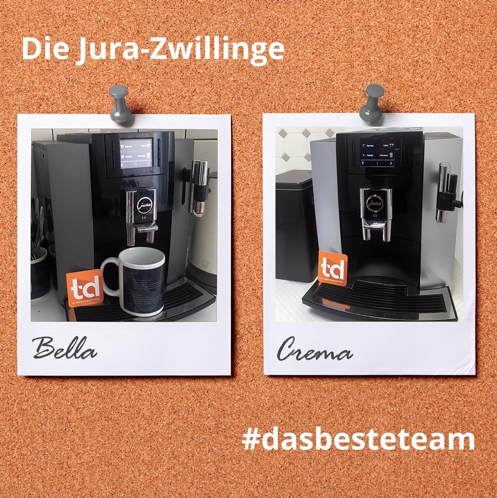Die Zwillinge Bella & Crema Jura bei team digital