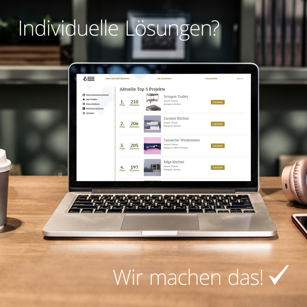 German Design Award by team digital - Individuelle Extensionentwicklung