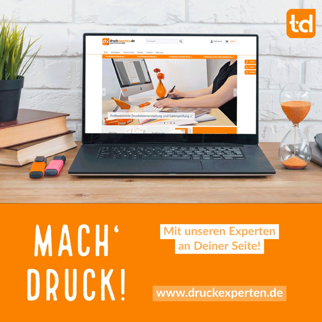 druckexperten.de – Dein Onlineshop für Flyer, Briefpapier, Visitenkarten und Co. – powered by team digital