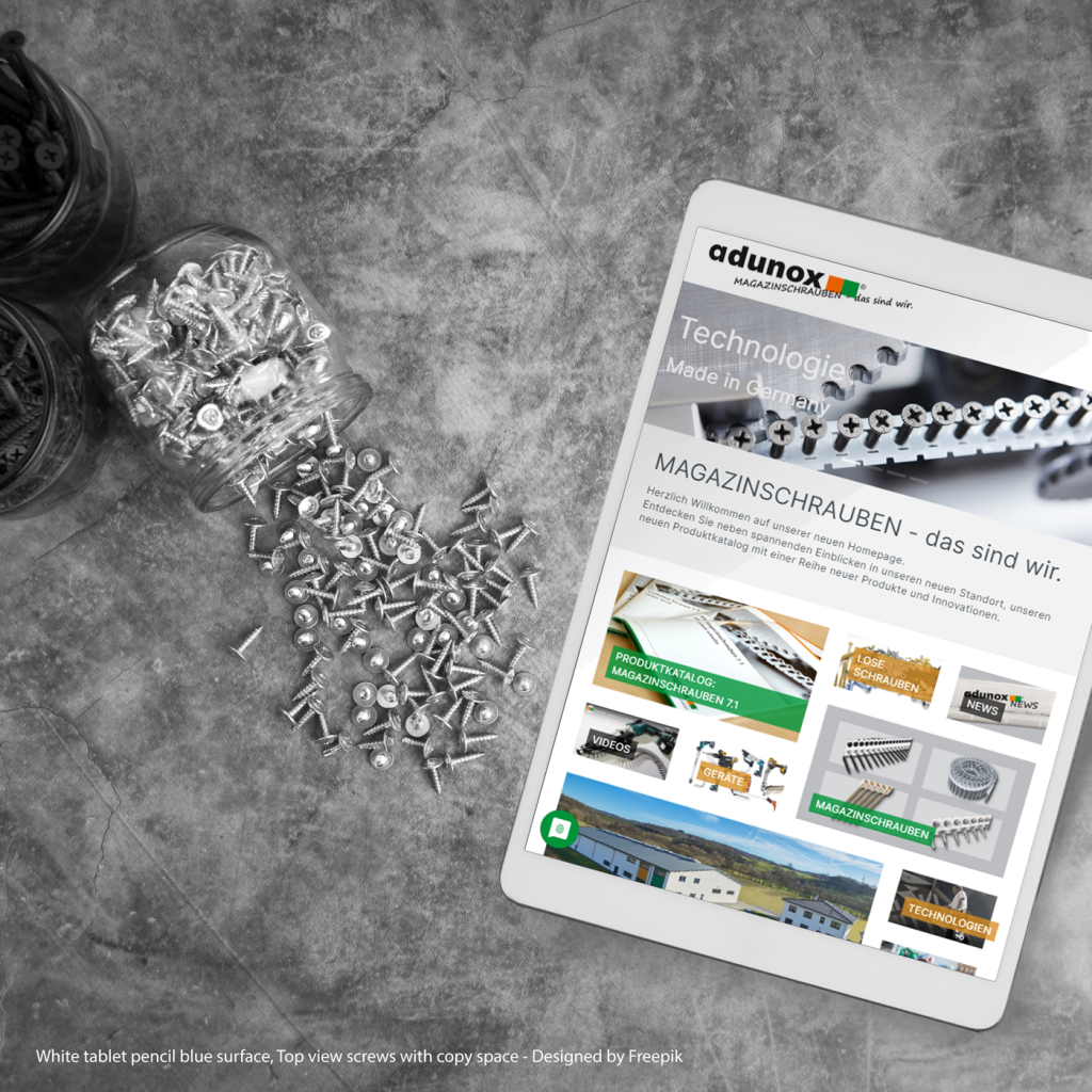 Neue Webseite für adunox aus Schotten - by team digital
